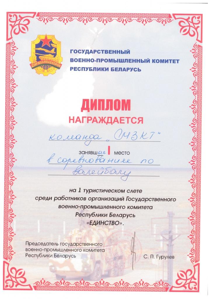 Сертификаты и награды Диплом за i место в соревнованиях по волейболу